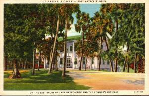 Florida Port Mayaca Cypress Lodge Curteich
