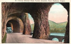 Columbia River Highway, OR, Interior of Mitchell Tunnel, Vintage Postcard f6538