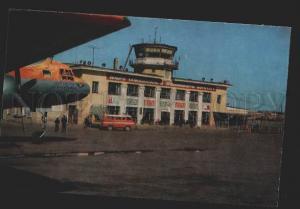 117191 USSR Russia VORKUTA Airport polar aviation old postcard