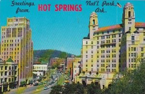 Arkansas Hot Springs National Park Looking Northwest On Central Avenue