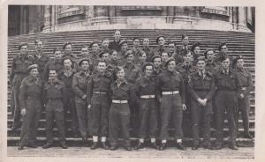 British Frontline Soldiers at St Marys Major Steps Rome WW2 Military War Photo