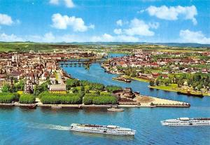 Koblenz am Rhein und Mosel Deutsches Eck Schiff Boats General view