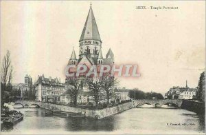 Old Postcard Metz Protestant Temple