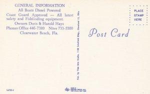 CLEARWATER BEACH, Florida , 1950-60s ; 3-Views,Deep Sea Fishing Boats