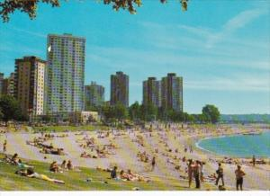 Canada English Bay Beach Scene Vancouver British Columbia