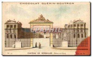 Chromo Chocolate Guerin Boutron Chateau De Versailles