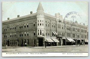 Rochester Indiana~Arlington Hotel~Restaurant & Bar~Bazaar Pub~1908 CU Williams
