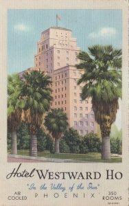 Arizona Phoenix Hotel Westward Ho 1940 Curteich sk2854