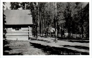 RPPC YELLOWSTONE NATIONAL PARK, WY  Log Cabins~ PAHASKA TEPEE~  c1940s  Postcard