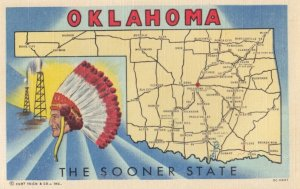 OKLAHOMA , 1930-40s ; Indian & Map