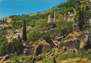Greece Delphi View Of The Ruins