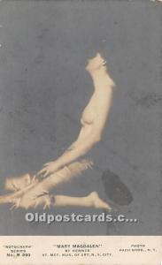 By Henner Nude Postcard Mary Magdalen Unused