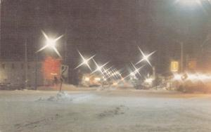 Partial Scene By Night, Chapais, Quebec, Canada, 1950-60s
