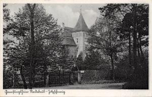 Dresden Saxony Germany~Radebeul Hospital~Front Gate~Wrought Iron~1940s B&W PC