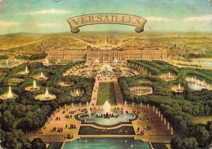 France Versailles Le Panorama Fountains Palace General view Postcard