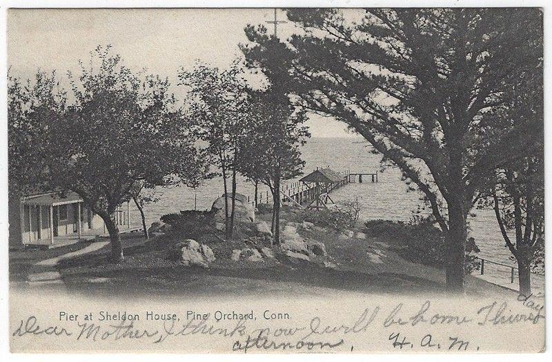 Pine Orchard, Connecticut, Early View of The Pier at Sheldon House