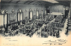 Spain Madrid Real Armeria INterior Hausen y Menet Postcard