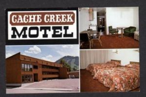 WY Cache Creek Motel JACKSON WYOMING Postcard PC
