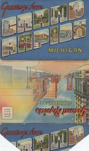 Folder Postcard , GRAND RAPIDS , Michigan , 30-40s