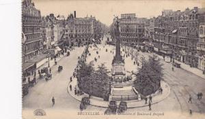 Place De Brouckere Et Boulevard Anspach, Bruxelles, Belgium, 1900-1910s