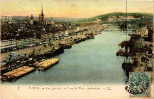 CPA ROUEN-Vue générale. Prise du Pont transbordeur (348433)