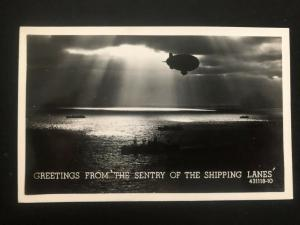 Mint USA Real Picture Postcard RPPC Zeppelin The Sentry Of the Shipping Lanes