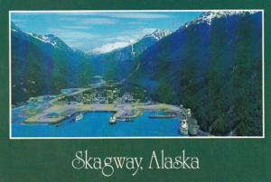 Alaska Skagway Aerial View From The North 1988
