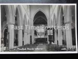 Vintage RPPC - Thaxted Church Interior