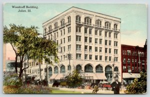 Joliet IL~Woodruff Building @ Jefferson & Chicago~Express Delivery Wagons~c1910
