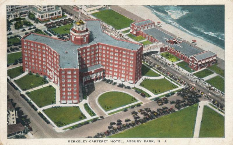 Aerial View Berkeley Carteret Hotel Asbury Park Nj New Jersey Pm 1930