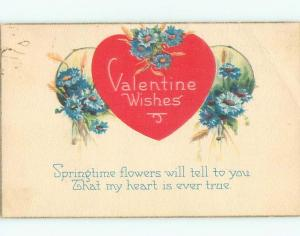 Divided-Back VALENTINE DAY SCENE Great Postcard W7856