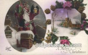 Santa Claus Old Vintage Antique Postcard Post Card
