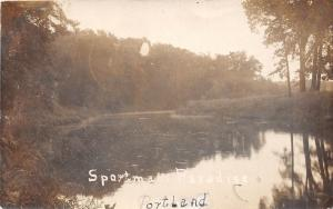 Michigan MI Real Photo RPPC Postcard 1907 PORTLAND Sportsmen's Paradise