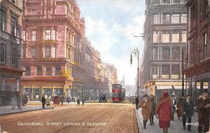 Sauchiehall Street Looking East Glascow Ireland 1931 Missing Stamp