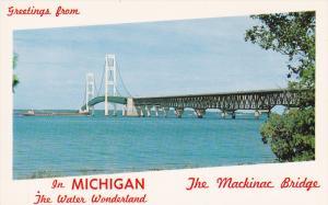 Mackinac Bridge, Water Wonderland, MACKINAW CITY, Michigan, 40-60's