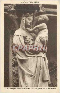 Old Postcard Riom The Lady Bird (S XV) of the Church of Marthuret