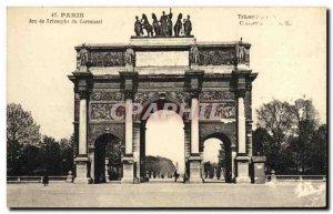 Old Postcard Paris Arc de Triomphe du Carrousel