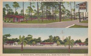 MYRTLE BEACH , South Carolina , 30-40s ; El Rancho Motel