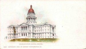 Colorado State Capitol, Denver, Colorado, 1900 Private Mailing Card, Unused