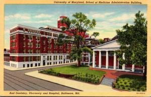 Maryland Baltimore School Of Medicine Administration Building University Of M...