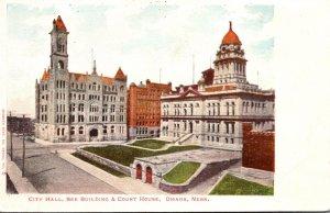 Nebraska Omaha City Hall Bee Building and Court House