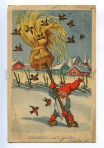 206768 NEW YEAR Dwarf GNOME Birds by TILGMANN Vintage PC