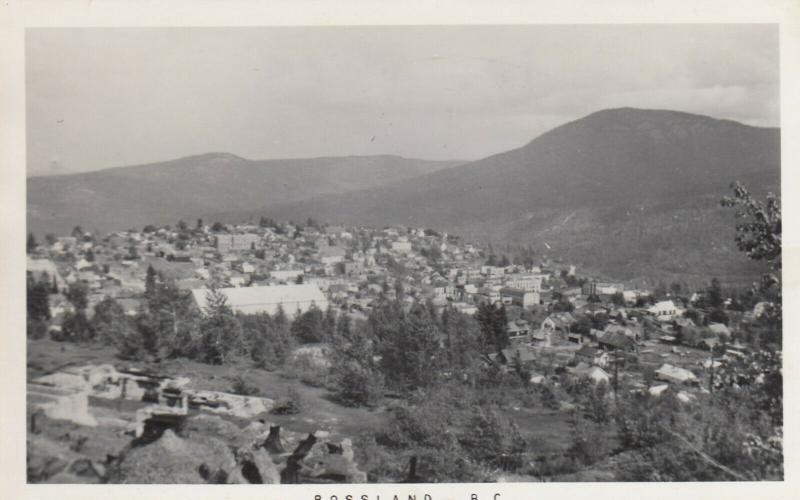 RP: ROSSLAND , B.C. , Canada, 1920-40s; Aerial View