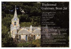 Postcard Recipe, Traditional Guernsey Bean Jar, Little Chapel #619