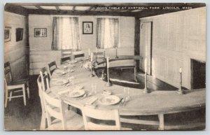 Lincoln Massachusetts~Hartwell Farm Restaurant~Dining Rm~Moon Table~1930 Artvue
