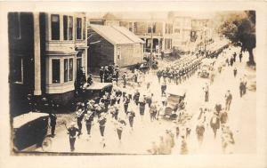New York City (?)~Parade~Marching Band-Trumpets~Vintage Cars~1920s RPPC Postcard