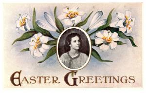Easter Potrait in flowers