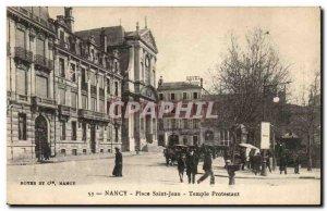 Nancy - Square Saint John - Protestant Temple - Old Postcard