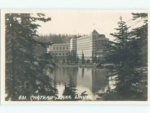 old rppc HOTEL SCENE Lake Louise Alberta AB W0848
