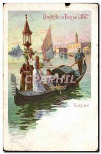 Postcard Old Train Railways of & # 39Est Venice